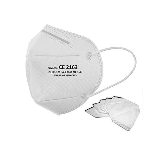 12 FFP2 Masken CE Zertifiziert Atemschutzmaske Einzelverpackung in PE-Beuteln