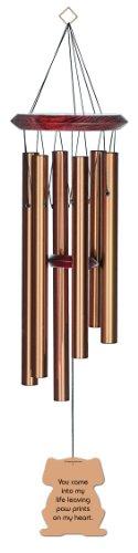 Chimesofyourlife Dog-paw-print-27 pattes de chien pour animal domestique Mémorial Carillon, 68,6 cm, Bronze