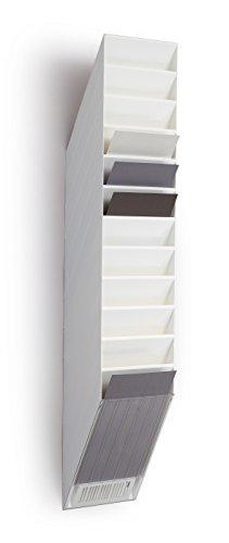 Durable 1709763010 Flexiboxx 12 A4, Espositore da Parete, Formato A4 Verticale, 12 Comparti, 240 x 1115 x 135 mm, Bianco