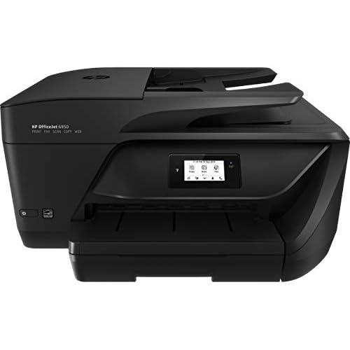 HP OfficeJet 6950 P4C78A Stampante Multifunzione a Getto di Inchiostro, Stampante, Scanner, Fotocopiatrice, Fax, Wi-Fi, Ethernet, con 2 Mesi di HP Instant Ink Inclusi, Nero