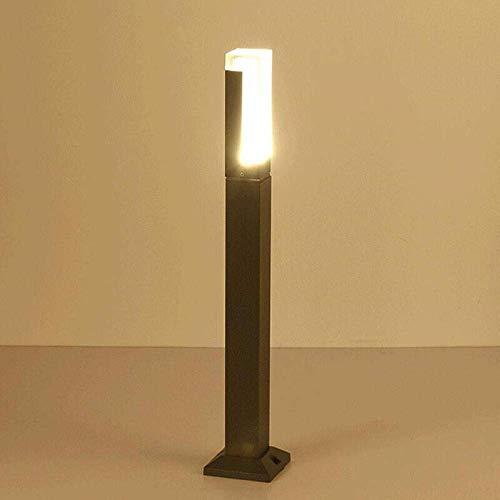 BXZ Ip67 Lámpara de césped LED de aleación de aluminio impermeable Lámpara de pared exterior LED blanca fría Columna Lámpara de pie exterior para sala de estar para jardín Lamp_10W 80X10X5Cm,27cm
