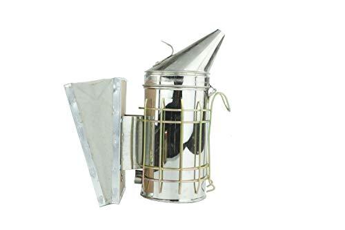 APIFORMES Ami Smoker S - klein mit Wildleder Blasebalg | Rauchbläser | Imkerei | Imkerschutz | Rauchdose | Imkereibedarf