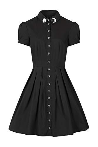 Preisvergleich Produktbild Hell Bunny Button Heart Frauen Mittellanges Kleid schwarz XL