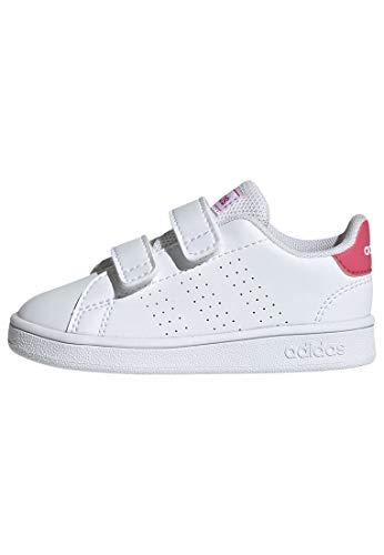 adidas Baby Advantage I Sneaker, White, 4 M US