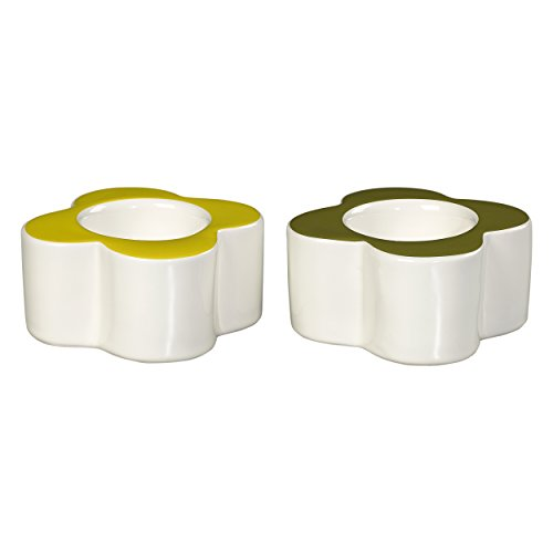 Orla Kiely Egg Cups Flowers Seagrass and Sunshine, Set of 2