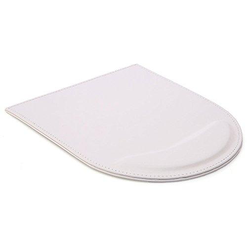 KINGFOM™ tapis de souris avec repose poignet en cuir ( blanc)