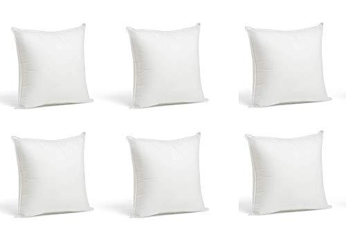 Kingnet 6 Rellenos Cojines Sofa hipoalergénicas para Funda Cojines Decoracion y para Almohadas de Cama 40x40cm