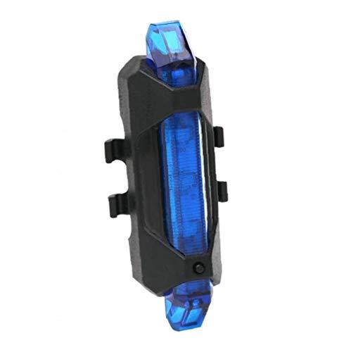 linjunddd Cola De La Bicicleta Led De Luz Trasera USB Recargable Impermeable De La Luz Trasera Advertencia De Seguridad De La Lámpara (Azul) Accesorios De Bicicletas