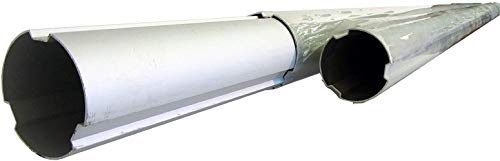 """SunHeater SPAG7540 Telescoping 3-Piece Aluminum Tube for Solar Blanket Reel Systems – Adjusts 7' to 21' – 3"""" Diameter – for Inground/Aboveground Pools"""