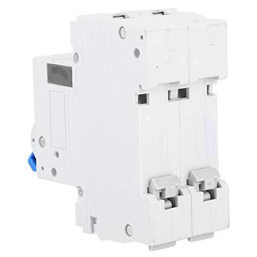 Interruptor de aire Protección de sobrecarga de fugas de CA 4500A Mini caja de disyuntores 2P para montaje en riel DIN para riel DIN(10A)