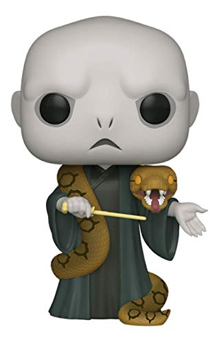 "Funko- Pop Harry Potter 10"" Voldemort w/Nagini S10 Figura coleccionable, Multicolor (48037)"