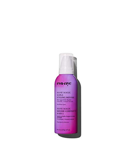 EVA NYC Mane Magic 10-in-1 Mousse, 10 Benefits in 1 Formula, Volumizing Foam with Argan Oil & Plant Protein, 5 oz, pink