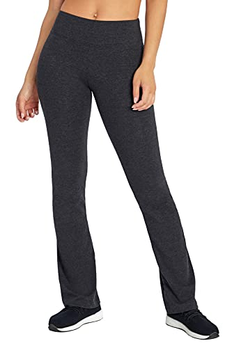Bally Total Fitness Women s Barely Flare Bootcut Legging, Heather Charcoal, X-Large