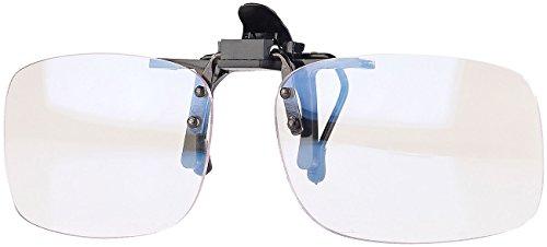 infactory Blaulichtfilter: Augenschonender Brillen-Clip, Blaulicht-Filter für Bildschirme, UV 400 (Blaulichtfilter Clip On)