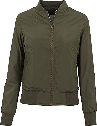 Urban Classics Ladies Light Bomber Jacket Giaca, Olive, XS Donna