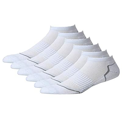 NovForth 6 Pairs Men's Athletic Socks Comfort Trainer Sports Socks, Cotton, Antibacterial, Deodorant Sock