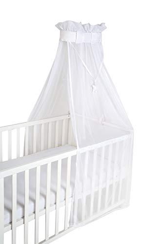 safe asleep van roba babybed hemel, bedhemel, wit, mesh-hemel voor babybed