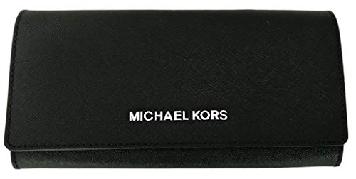 Michael Kors Jet Set Travel Carryall Saffiano Leather Wallet Black