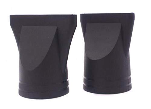 2 boquillas de plástico para secador de pelo, concentrador estrecho de recambio, soplado plano, boquilla de secado de pelo, color negro