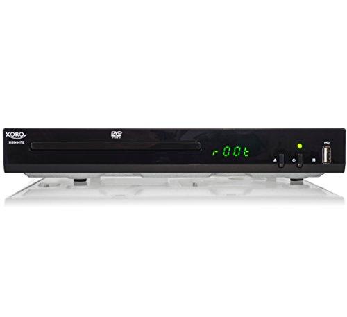 Xoro HSD 8470 HDMI MPEG4 DVD-Player (USB 2.0, Mediaplayer, 1080p Upscaling, MultiROM) schwarz & Amazon Basics Hochgeschwindigkeits-HDMI-Kabel, CL3-zertifiziert, HDMI-Standard 2.0, 1,8 m