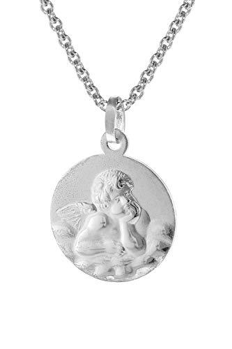 trendor Engel-Anhänger mit Halskette 45/42 cm Silber 925 75112