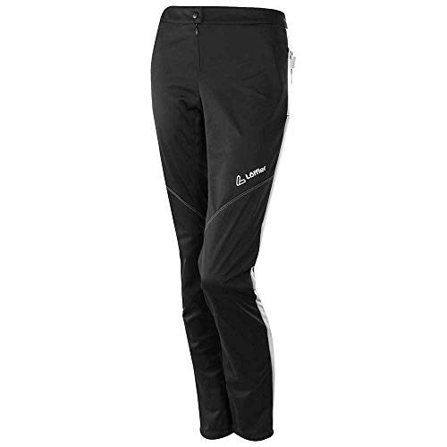 LÖFFLER Attaq Windstopper® Light Pantalon pour Femme Noir/Blanc, Taille 38