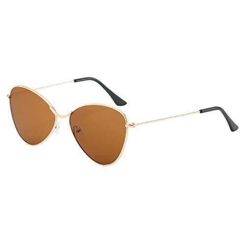 MERICAL Occhiali da sole per uomo Donna Occhiali da vista con montatura semi-rimless in specchio di metallo polarizzato Elegante stile minimalista