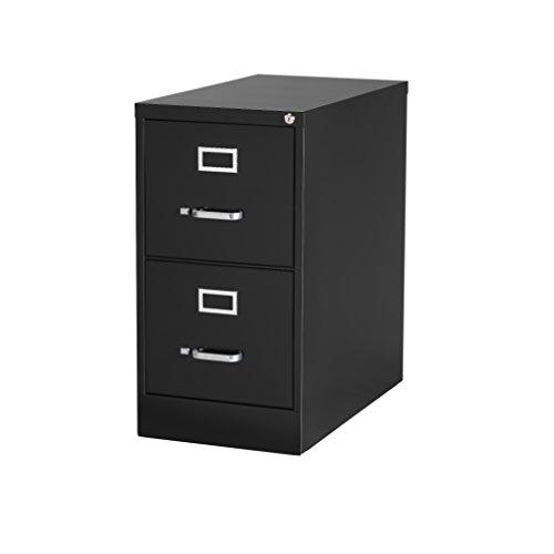 Hirsh Industries 22 Deep Vertical File Cabinet 2-Drawer Letter Size Black 17890