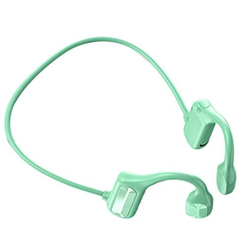 Nobranded Auriculares de conducción ósea Bluetooth 5,0 de oído Abierto Resistentes al Sudor para Entrenamientos Correr conducción contestando Llamadas - Verde
