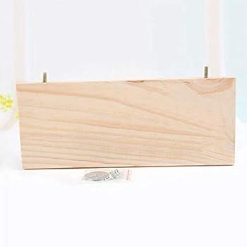 Plate-forme de support en bois, plate-forme de support en bois de hamster d'écureuil de 13*28 cm, perchoirs de cage à oiseaux de perroquet pour animaux de compagnie, support en bois carré pour perruch