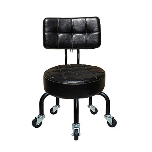 QFbp Sedia Girevole Bambino/Adulto con Schienale Alto 28 Cm, Sedile Imbottito Impermeabile per Pedicure Manicure Bellezza SPA