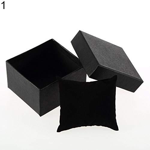 GlobalDeal Direct Geschenkbox für Armreif, Ring, Ohrringe, Armbanduhr Schwarz