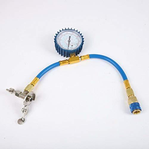 Autozubehör AC Klimaanlage R134A Kältemittelaufladerschlauch W/Manometer Messkit Kupfer Auto Diagnostic Tool