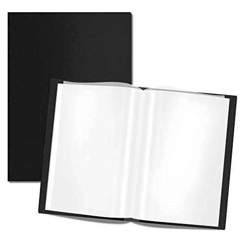 Presentation Book 40 Clear Pockets Sleeves Protectors Art Portfolio Clear Book for Artwork, Report Sheet, Letter (Can Accommodate 19 X 13inch)