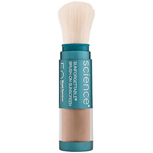 Colorescience Brush-On Sunscreen Mineral Powder for Sensitive Skin, Deep 1
