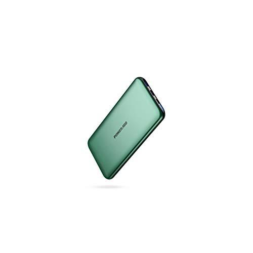 POWERADD Power Bank, 20W PD y QC3.0 Carga Rápida 2021 Nuevo 10000mAh Batería Externa Móvil Ultra Delgada y Elegante para los Dispositivos Electrónicos Portátiles-Verde Medianoche