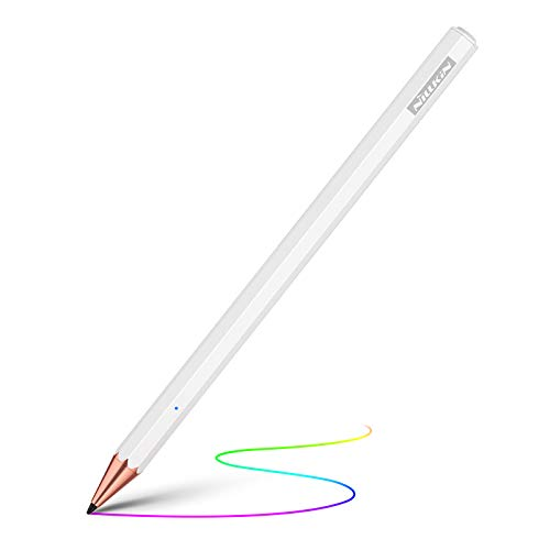 Nillkin Crayon K2 Penna Capacitiva Attiva con Palm Rejection, Active Stylus Pen, Penna Touch con Punta fine sensibile compatibile con iPad PRO 11 12,9 Pollici 2018 2020, iPad 7a, iPad Mini 5, iPad Air