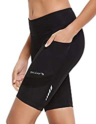 The padded cycling shorts is made from high-stretch properties fabric, with nice balance between compression and breathability, working with you on long days in the saddle to keep you comfortable Multi-density 6D chamois inserts to ensure you have a ...