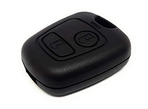DigitalTech® - Carcasa Compatible para Llave Citroen CE1065 con Tornillo. Sin Hoja. 2 Botones. Compatible con Llaves Citroën Xsara Picasso Berlingo
