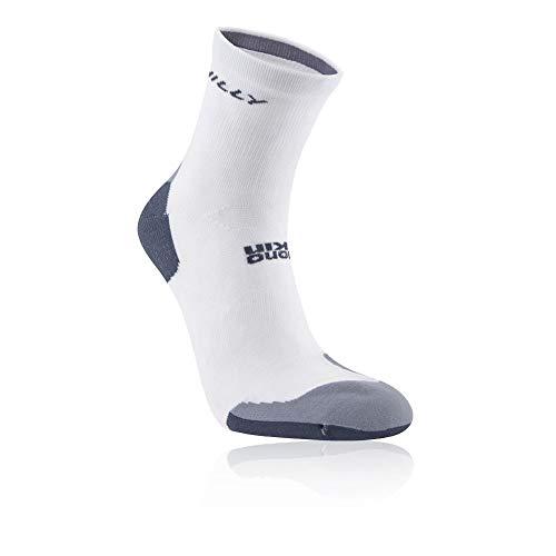 Hilly Marathon Fresh Anklet Socks - White/Charcoal, Large
