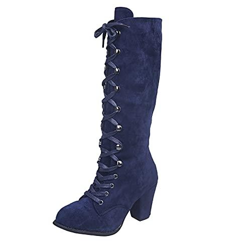Dasongff Bottes Femme à Talons Hauts Chunky Boots...