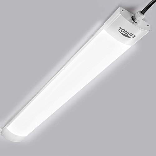 LED Feuchtraumleuchte 60CM 18W 1800LM, LED Röhre 5000K Wasserfest Flimmerfrei IP65,LED Werkstatt Deckenleuchte Lampe Tageslicht für Garage Keller Werkstatt Büro