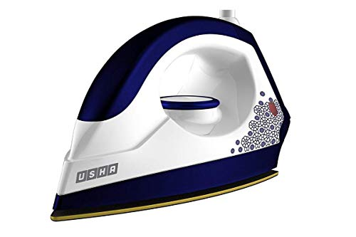 Usha EI 3302 Gold 1100-Watt Lightweight Dry Iron (Galaxy Blue)