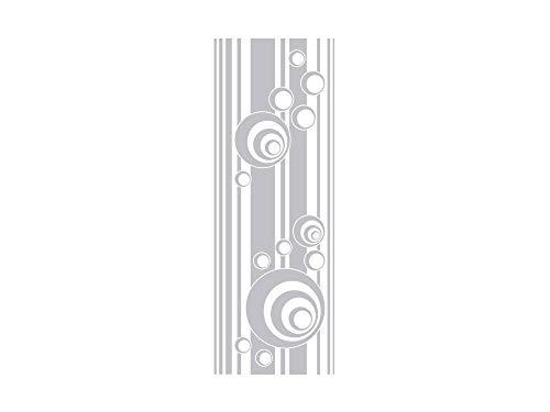 GRAZDesign Fenstertattoo Retro, Streifen und Kreise, Fensterfolie für Badezimmer, Glastattoo für Dusche / 140x50cm