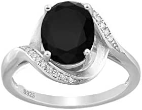 Cheap bargain 925e Sterling Silver Oval Swirl Simulated Ring Luxury CZ with Decorated