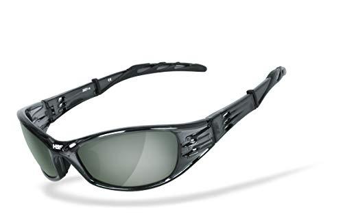 HSE SportEyes® | POLARISIEREND | hochwertige Sportbrille, Radbrille, Fahrradbrille, Bikerbrille, Motorrad-Sonnenbrille | HLT® Kunststoff-Sicherheitsglas, UV400 Filter | Brille: 2021-g15p