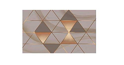 Tapeten 3D Seide Tapete Einfache Raute Wohnzimmer TV Hintergrund Tapete Dekoration -200X150cm(WxH)
