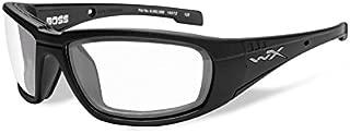 Wiley X Boss Sunglasses - Clear Lens - Matte Black Frame [CCBOS03]