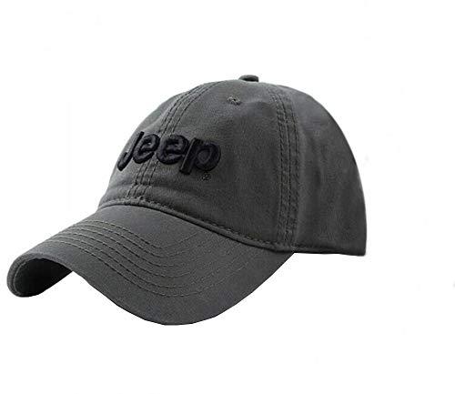 Jeep Unisex Adjustable Horizon Classic Cap (Black, Free Size)