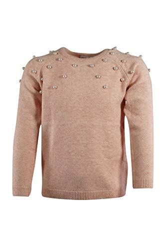 NAME IT Mädchen Pullover mit Perlen Sweatshirt Sweater Pulli NKDSEARLI LS Knit NOOS Strickpullover, Größe:122, Farbe:Rosa